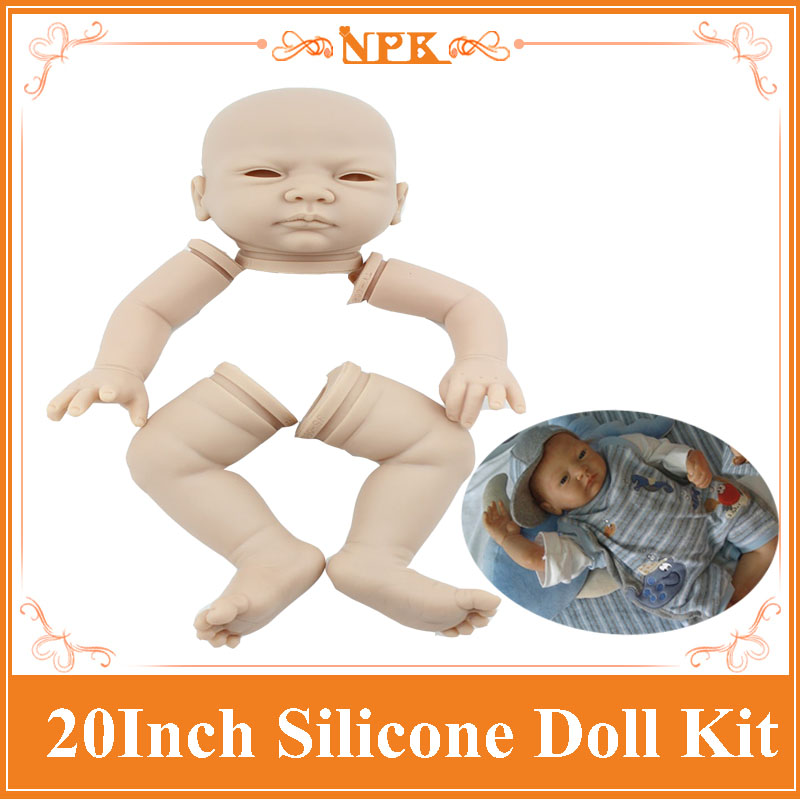 DIY Good Quality Silicone Reborn Baby Doll Kits Including 1head , 2legs ,2hands 20Soft Lifelike Vinyl Doll Accessory For Kids<br>