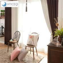 Modern polyester drapes insulated blackout curtains decoration curtains for living room window treatments
