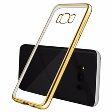S8 S7 Silicone Case For Samsung Galaxy J1 2016 A3 A5 A7 J3 J5 Prime S8 Plus S7 S6 edge Note 5 4 Clear Cover TPU Phone Bag Case(China)