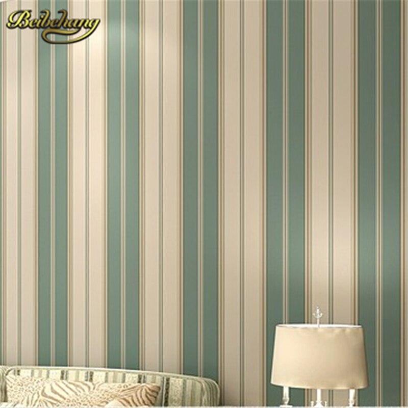 beibehang papel de parede. Boys bedroom wallpaper modern wallpaper pvc wallpaper stripe wall paper blue wall covering<br>