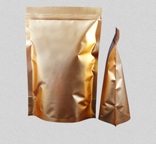 100pcs/lot Stand Up Pouch Gold Bread Packing Ziplock Cookie Packaging Food Grade Waterproof Aluminum Foil Bags