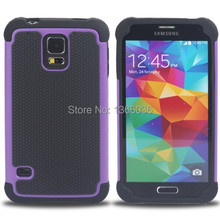 Rugged Hybrid 3 in 1 Football Skin Rubber Cover Hard Plastic Case For Samsung Galaxy S5 S 5 I9600(China)