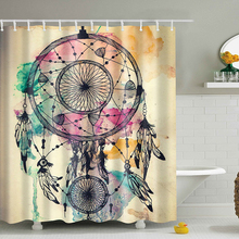 3D Shower Curtains Decor Collection Nautical Colorful Seascape Picture Print Bathroom Set Fabric Shower Curtain with Hooks Newes