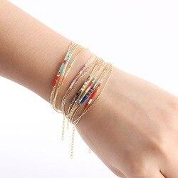 Женский разноцветный браслет