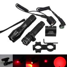 Adjustable Focus 5000LM RED Q5 LED Waterproof Gun Light with Red dot Laser Sight Scope light RifleScope New