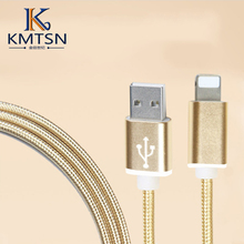 nylon braided usb charging cable for iphone 6 6 s plus usb charger cable for iphone 5s 5 ipad 4 mini 8 pin power wire cable