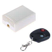 Upgraded Universal Wireless DC 12V 433MHz Remote Control Switch Transmitter with Wireless receiver for Garage Door Gate Curtain(China)
