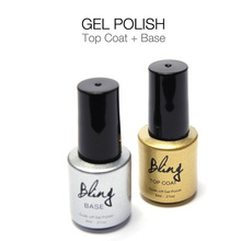 Bling Gel Lacquer Top Base Coat Top it Off Soak-off Transparent Clear Colors Long-lasting UV LED Varnish Manicure 6ml