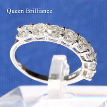 3.5mm Width 1.6 Carat ct F Color Lab Grown Moissanite Diamond Engagement Ring Wedding Band For Women Solid 14K 585 White Gold(China)