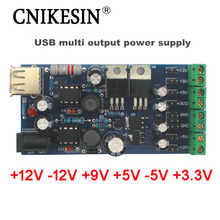 CNIKESIN USB boost single turn double power Mini power Linear regulator multiple positive negative output power supply DIY Suite(China)