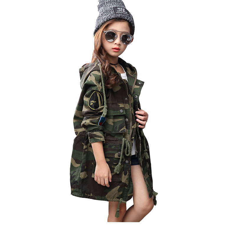 Winter 4 15 Age Kids Denim Jacket For Girl Coat Clothing Fashion Causal Girls Cardigan Children Outerwear Toddler Hodded Jackets<br>