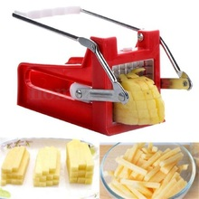 Stainless Steel Shredders Slicers French Fry Cutter Chip Maker Potato Vegetable Slicer 2 Blades Easy Kitchen Tools QB970572