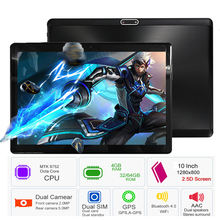 2018 New Google Play Android 7.0 OS 10 inch tablet Octa Core 4GB RAM 64GB ROM 1280*800 IPS 2.5D Glass Kids Tablets 10 10.1(China)