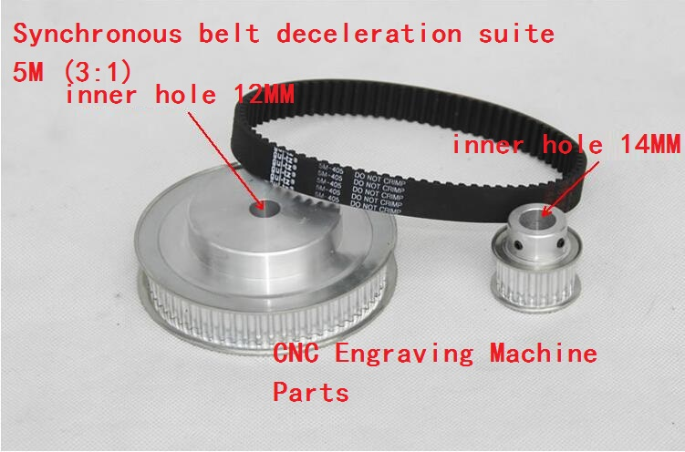 Timing Belt Pulleys /Synchronous belt deceleration suite 5M (3:1) CNC Engraving Machine Parts<br>