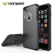 Yianerm For iPhone 6s 6 Plus 7 7Plus Phone Case With Kickstand Armor Shockproof Dual Layer Heavy Duty Rugged Protective Case