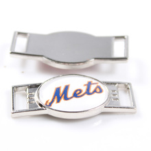 12Pcs/lot MLB New York Mets Team LOGO Shoe Lace Charms Sports Shoe Decoration For Men And Women Baseball Fans