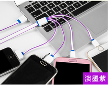 4 in 1 Multi noodle fast charger cable for android Samrt phone micro& 8pin&30pin for Iphone 6s 6 samsung note 3 usb 3.0 cable