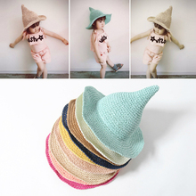 New Summer Cute Muts Baby Girls Beach Hat Brim Large Sun Hat Children's Hats Kids Cap Touca Infantil T