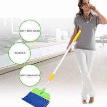 Drop Shipping Double Sided Flat Magic Mop Sweepers Dustpans Hard Floor Cleaner Lazy Vassoura(China)