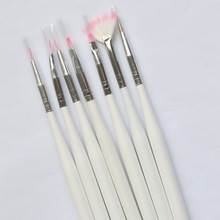 7pcs Pro Nail Art Sets DIY Designs Acrylic UV Gel Polish Decorations Dotting Pen Drawing Manicure Nail Brush Styling Tools ND07