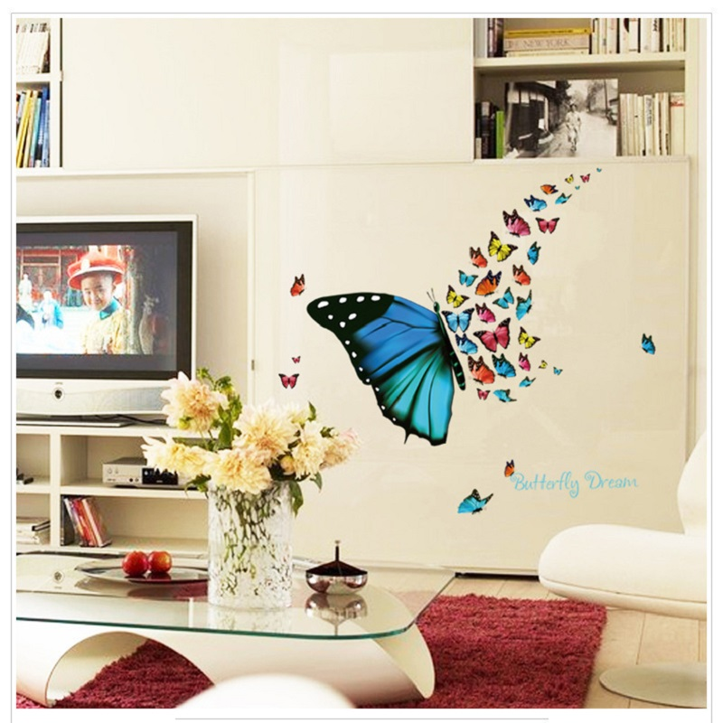 Tremendous 56 82Cm Butterfly Wall Stickers Home Decoration Wall Art Download Free Architecture Designs Scobabritishbridgeorg