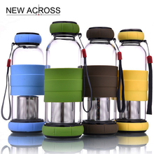 JUH 1Pcs of Fashion Style With Tea Strainer Portable Lifting Rope Water Bottle Teacup Leak-Proof Non-Slip Customized In Bulk(China)