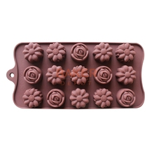Silicone Ice Cube kinds of roses flower shaped chocolate mold cake molds SICM-115-8