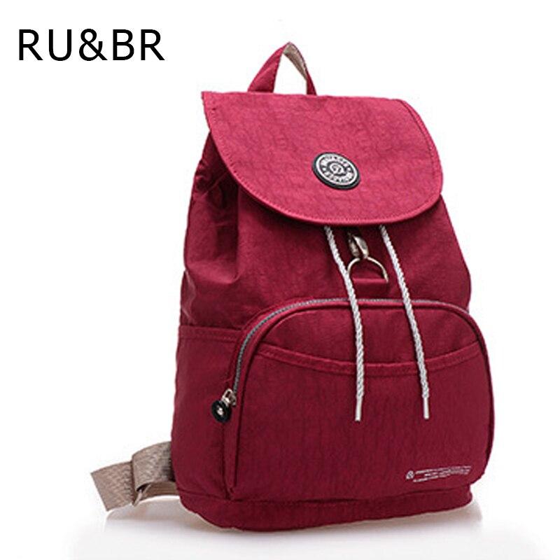 RU&amp;BR Korean Casual Men Backpack Waterproof Nylon Womens Backpacks For Teenagers Laptop Bag Travel  Bags Shoulder Backpack<br><br>Aliexpress