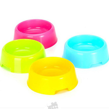 1pc Pet dog cat kitten plastic bowl pet bowls for food the dog drinking water bowl pet bowls supplies products  8zcx-cx760