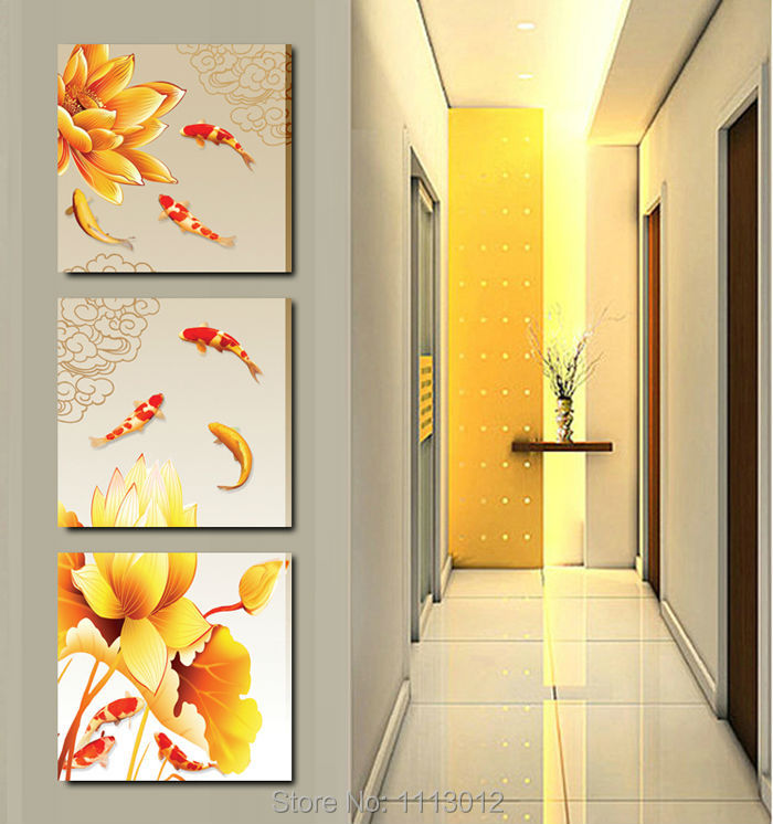 Aliexpress.com : Buy High Quality Home Decoration On Canvas Flower ...