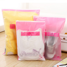 10 Pcs/lot Travel clothing storage bag waterproof sealing bag underwear shoes sorting bags Zip Lock Plastic Bag resealable Bag