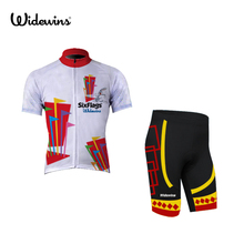 SIX Best Breathable Cycling Clothing Sports Custom Mens Cycling Jerseys Short Sleeve Top Shirt Clothing for Sport 5015