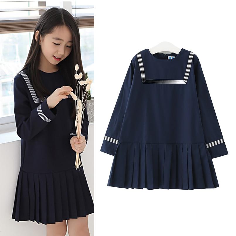 Kids Girls Dresses Cotton Long Sleeve Preppy Style Girls Clothing Spring Autumn Striped Children Girls Dresses 6 7 8 9 10 11 14T<br><br>Aliexpress