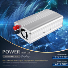 Automobiles 1500w Converter Modified Sine Wave Power Car Inverter DC 12v to AC 220V USB 5V Invertor USB Car Charger car styling(China)