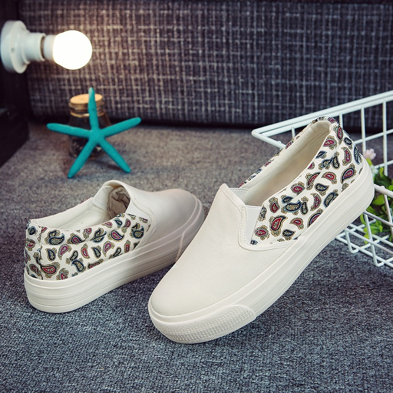 2016 low in spring and summer to help curb the lazy shoes sandals recreational canvas shoes female thick soles<br><br>Aliexpress