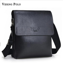 2017 Videng Polo New Arrival Men Messenger Bag High Quality Leather Men Handbags Black and Brown Special Offer Big Discount M248(China)