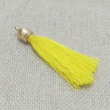 earrings tassels choker charms fiber Tassel caps crimps ends rayon cord fringe trim mobile lanyard pendant  toggle collier craft