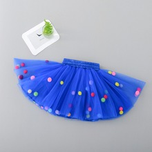 Infant Tutu Skirt Baby Girls Mini Dress with Balls Girls Tutu Skirt Princess Party Ballet Dance Skirt Newborn Baby Skirt(China)