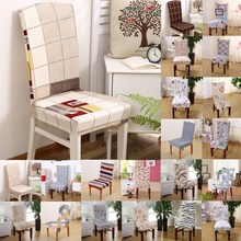 1pcs Plaids Flower Pattern Stretch Home Decor Dining Chair Cover Spandex Decoration covering Office Banquet chair Covers 43019
