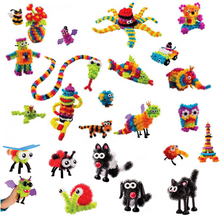 400 +Pcs Kid Educational Assembling 3D Puzzle Toys Thorn DIY Puff Ball Squeezed Creative Handmade Toy Puzzles For Children Gift