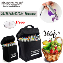 finecolour professional twin art markers set 160 72 60 copic colors alcohol based dual tip marker drawing pen for graffiti paint