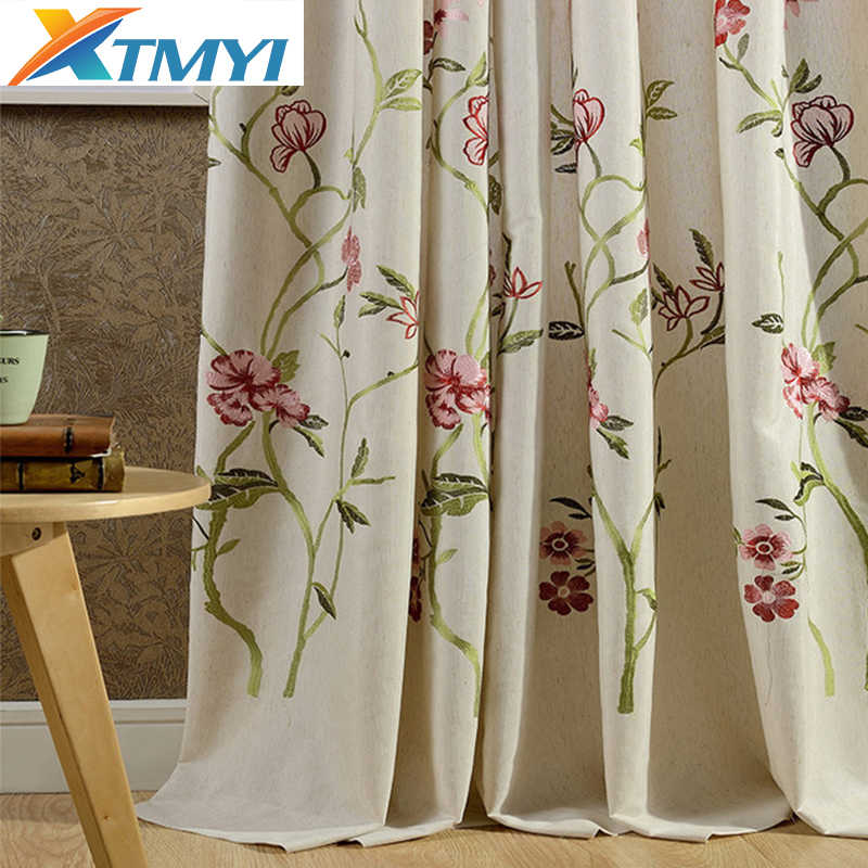 Hot Sale Japan Embroidered blackout curtains for living room modern curtains in the kitchen for bedroom blinds drapes