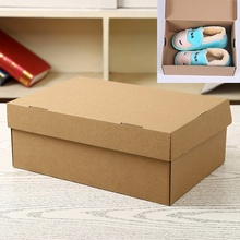Paper Shoe Boxes Storage Organizer Stackable Box Children's Toys Shoes Sundries Storage Organizer Storage Box 5PCS(China)
