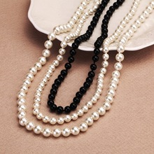 1 Strand 8mm Pearl Necklace New Fashion Statement Imitate Pearl Beads For Wedding Party Decoration Women Fashion Jewelry