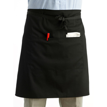 Universal Unisex Women Men Kitchen Cooking Waist Apron Short Apron Waiter Apron with Double Pockets (Black)