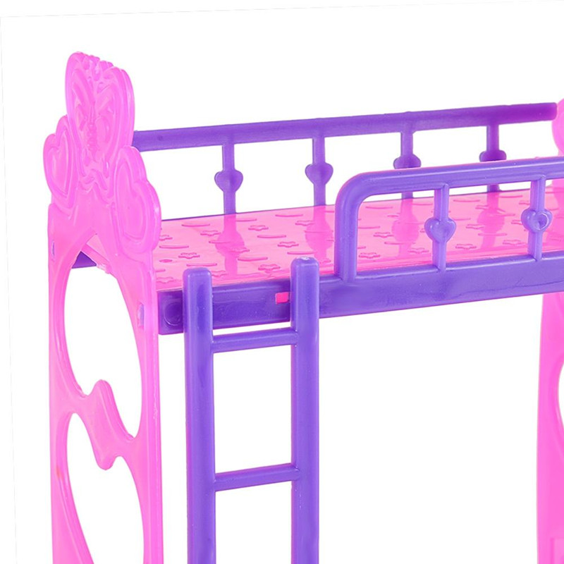 Rctown Plastic Double Bed Kylie Baby Bedroom Accessories Pink Purple Or Yellow Zk15 Aliexpress