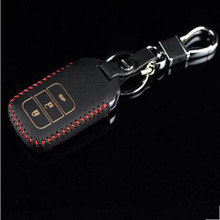 Free shipping Genuine leather car key holder cover wallet bag for honda Car Key Rings Key Bags