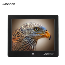 "Andoer 8"" HD LCD Digital Photo Frame Support Alarm Clock MP3 MP4 E-book Calendar Movie Player with Remote Control Birthday Gift"