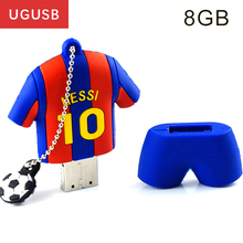 World Cup fashion Barcelona Messi Soccer Gift PVC Usb flash drive Pen drive Usb memory stick Usb disk 1GB 2GB 4GB 8GB 16GB 32GB(China)