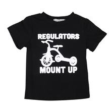 Toddler Baby Boys Girls Kid Child Black Short Sleeve Casual Cotton Tops T-shirt Shirts Clothes 2-6 Years(China)